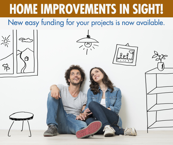 now new easy payment options available for your home improvement projects!