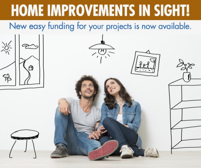 Now Offering Easy Payment Options for your Home Improvement Projects!